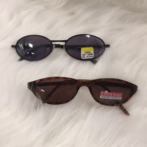 2 New Pairs Foster Grant Sunglasses with pouches